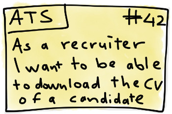 As a recruiter I want to be able to download the CV of a candidate